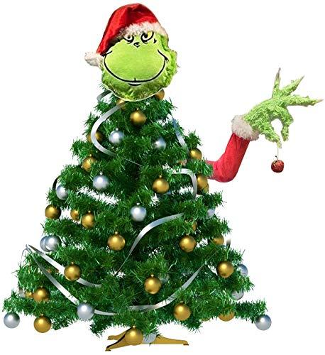 Grinch Christmas Decor Furry Green Grinch Brazo y soporte pa