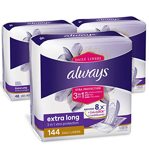 Always Xtra Protection 3-in-1 Daily Liners Extra...