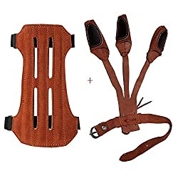 TOPARCHERY Leather 2 Straps Arm Guard