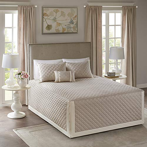Khaki Miller Tailored Bedspread Set (Full/Queen) 4pc