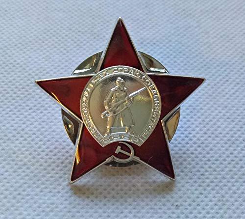 WERTY Orden de la Estrella roja Ejército Rojo Ruso Unión Soviética URSS Medalla Militar Insignia Copia de la Segunda Guerra Mundial