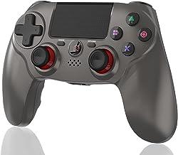 Maegoo Draadloze controller compatibel met PS4, Bluetooth joystick gamepad voor PS4 Slim/Pro met dual shock vibratie en 6-...