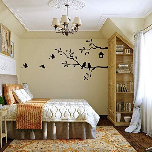 stickers muraux miroir pas cher Birds On Tree Pour Chambre Salon