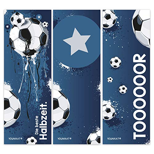 younikat 12er Set Fußball-Lesezeichen I 3 Coole Motive I für Kinder Jungen I Einschulung Schulanfang Schultüte I dv_581