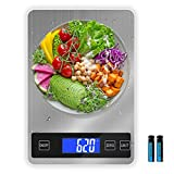 Digital Kitchen Scale, DEMALO 22lbs 5 Units Food Scale Weight Grams and Ounces with Tare Function, Large Panel Digital Scale with LCD Display, 1g/0.1oz Precise Graduation Scale for Baking, Cooking
