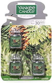 Yankee Candles 3 X Car Jar Ultimate Balsam and Cedar
