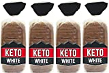 Keto Bread Zero Net Carb Low Carb Food - Keto-Friendly 4g Protein per Slice - Great for Your Keto Diet - 4 Bread Loaves Included (4)