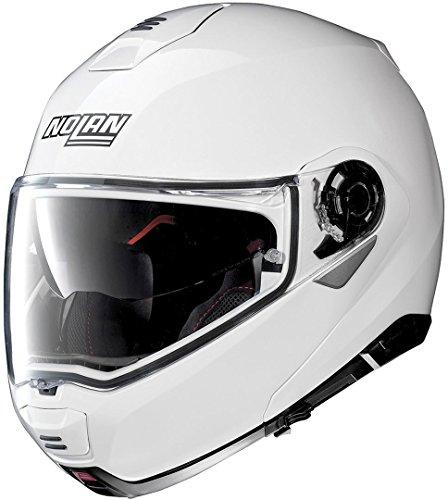 Nolan N100-5 Classic N-Com Metal White L