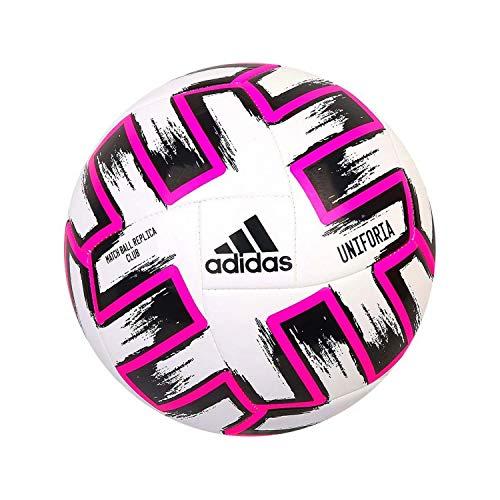 adidas UNIFORIA Club Balón De Fútbol, Adultos Unisex, Blanco/Negro/Color De Rosa De Choque, 4 ✅