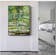 Claude Monet Bridge Over A Pond of Water Lilies Wall Art Canvas Paintings Impressionist Water Lilies Home Decoration 50 * ...