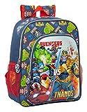 Safta Mochila Escolar Junior de Avengers Heroes Vs Thanos, 320x120x380mm, Azul Marino/Multicolor, M...