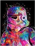 Pintura sin marco por números Diy Star Wars Attack Figure Wall Art...
