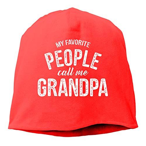 Sng9o My Favorite People Call Me Grandpa - Gorros unisex de algodón suave