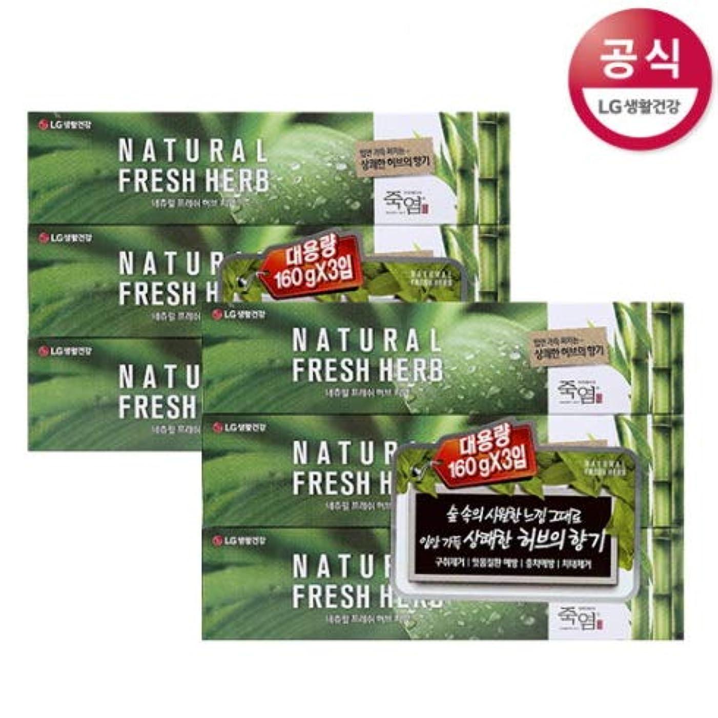 ビンやる第九[LG HnB] Bamboo Salt Natural Fresh Herbal Toothpaste/竹塩ナチュラルフレッシュハーブ歯磨き粉 160gx6個(海外直送品)