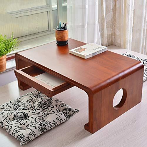 Tables basses Meubles Salon Solide en Bois Petite Table à Manger for Les Enfants lit Ordinateur de Bureau avec Un Design de tiroir Tables (Color : Wood, Size : 70 * 45 * 30cm)