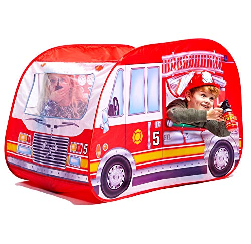 Childrens Pop Up Play Tent Designed like a / Fire Engine / Great for Fireman Sam Toys. Play Tent/Playhouse/Den.Play Tents for Boys Play Tent, Great Pretend Firestation for Children Toys Fire Engine.