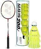 Yonex Arcsaber Light 15i Badminton Combo (Racquet + Mavis 200i)