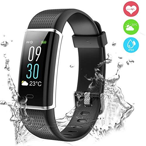 Chianruey Fitness Tracker, Color Screen Activity Tracker with Heart Rate Monitor,Steps Counter IP68 Waterproof Smart Watch with Calorie Counter Watch Pedometer Sleep Monitor for Kids Women Men