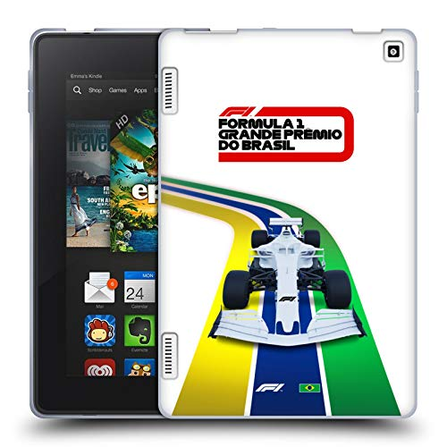 Head Case Designs Officially Licensed Formula 1 F1 Brazil Grand Prix World Championship 2 Soft Gel Case Compatible with Amazon Fire HD 7