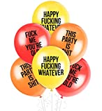 Rude Balloons™   Funny Abusive Birthday Party Decoration   Pack of 12 for Him, Her, Adult   Hilarious Gag Gift NSFW Offensive Phrases