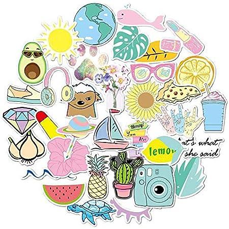 Hamkaw Aufkleber Für Wasserflaschen 100er Pack Galaxy Style Trendy Wasserdicht ästhetische Vinyl Graffiti Aufkleber Laptop Und Wasserflasche Decals Aufkleber Für Mädchen Teens Frauen Küche Haushalt