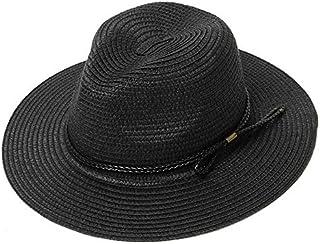 KLNOC Sombrero para El Sol Sombreros De Sol para Las Mujeres Sombrero De Paja Verano Casual ala Plana Sombrero De Playa Plegable Ajustable para Mujer Sombrero Sombrero