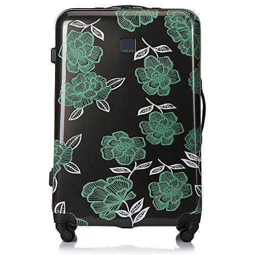 Tripp SlateSea Green Bloom Large 4 Wheel Suitcase