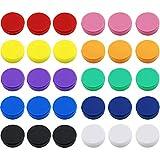 DLOnline 30 imanes redondos para nevera, pizarras blancas, taquillas o imanes de nevera (varios colores de 10 colores)