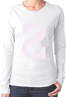 QRRage Women Long Sleeve Black T Shirt Fashion Shirts for Women with Chance The Rapper Pattern