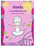 Coloring Book for Kids Toddlers Children Girls, Personalized Custom Name, Ballerina Dancer