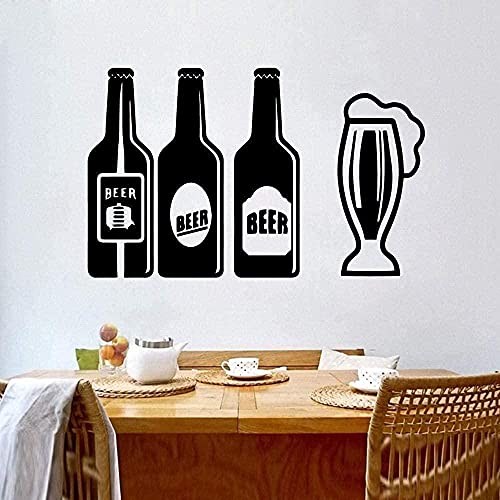 TJVXN Etiqueta engomada de la Cerveza Etiqueta de la Pared de la Cocina Etiqueta de la Pared del Vinilo Papel Pintado Etiqueta de la decoración de la habitación Cocina 57x80 cm