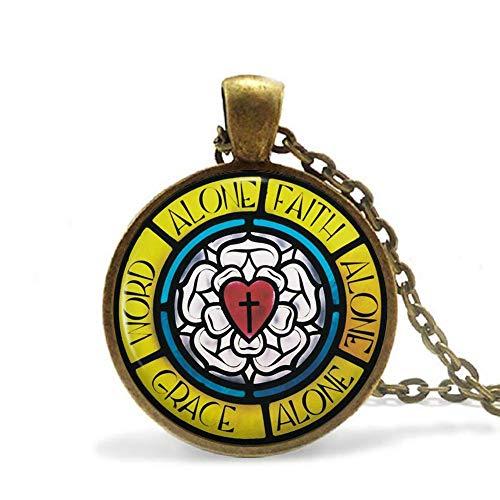 Luther's Rose/Siegel Halskette Anhänger Wappen Religiöser Schmuck