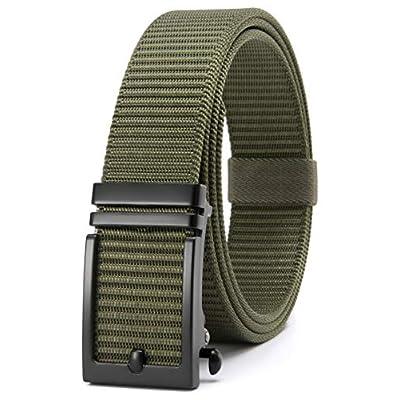 Amazon - Save 60%: 2 or 1 Pack Nylon Webbing Ratchet Belt for Golf with Slide Buckle, Fully Adjust…