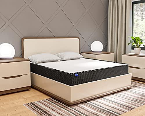 Comforto Duplex 4 Inch Dual Comfort HD Rebonded Foam & PU Foam Single Size Foam Mattress (72x30x4 Inch, Foam)