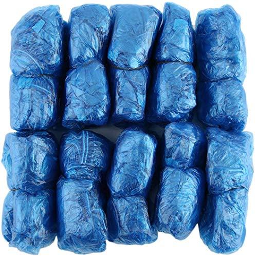 Elviray 100Pcs / Set Copriscarpe in plastica USA e Getta Stanze Esterne Stivale Antipioggia Impermeabile Moquette Pulita per l'ospedale Soprascarpe Kit per la Cura delle Scarpe