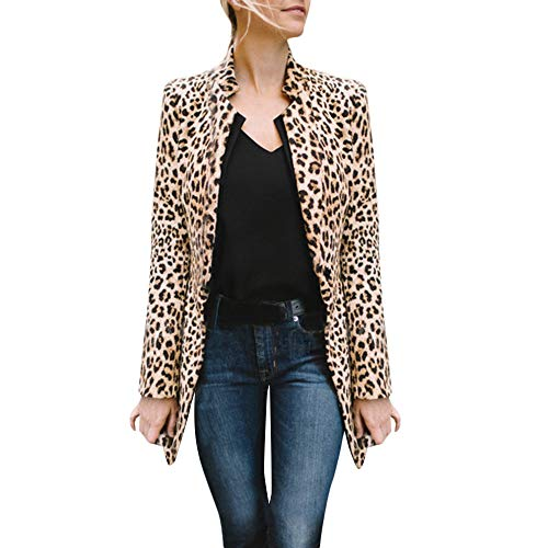 Lange jas met luipaardpatroon dames business vrijetijdpak winter warme nieuwe wind coat cardigan winterjas mode coat casual jas gewatteerde jas