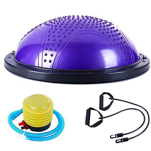 DO-MF Balance Trainer Fitball Media Bola de Equilibrio para Entrenamiento, 60cm Gym Pelota Balón Semiesfera de Gimnasia Pilates para Yoga y Fitness, Masaje Bolas Pilates Ball, MAX.150 KG,Púrpu