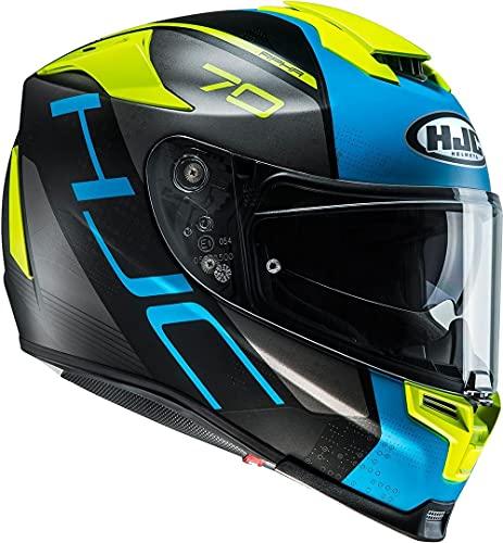 Casco moto HJC RPHA 70 VIAS MC2SF, Nero/Blu/Giallo, M