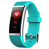 Fitness Bracelet for Huami Amazfit Cor Smart Band IP67 Waterproof 0.96 Inch Full Fit Color IPS Display Heart Rate Monitor, Cyan