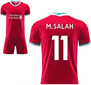 Herren Fan Fußball Trikot Set Liverpool F.C Home/Away Fußball Trikot Shorts T-Shirt Trainingskleidung für Erwachsene Kinder