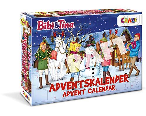 CRAZE BIBI & Tina ADVENTSKALENDER BIBI UND Tina Spielzeug Kalender für Mädchen B&T Weihnachtskalender Spielfiguren 33340, Tolle Überraschungen