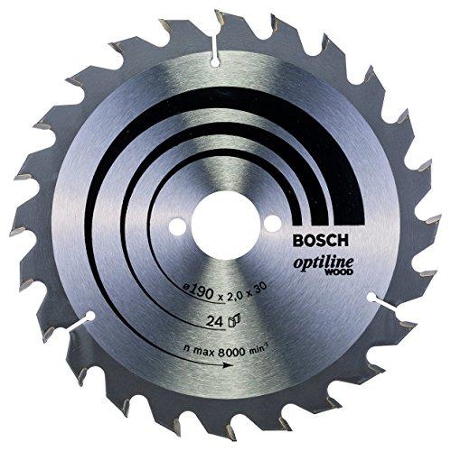 Bosch Professional Kreissägeblatt Optiline Wood (für Holz, 190 x 30 x 2,0 mm, 24 Zähne, Zubehör Kreissäge)