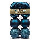 KI Store Large Christmas Balls Blue 4-Inch Shatterproof Christmas Tree Ball Ornaments Decorations for Xmas Trees Wedding Party Home Decor
