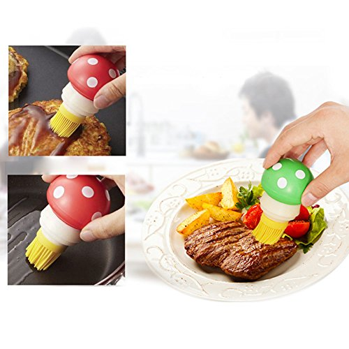 Ramdon Color 1PC Siliconen Honing Olie Borstel met Fles voor BBQ Barbecue Koken Cake Gereedschap