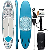 HIKS TRIBAL 11'2 3.4m Stand Up Paddle SUP Board Set Inc Paddle, Pump, Backpack & Leash Suitable all Abilities Ideal Beginners Inflatable Paddleboard Kit