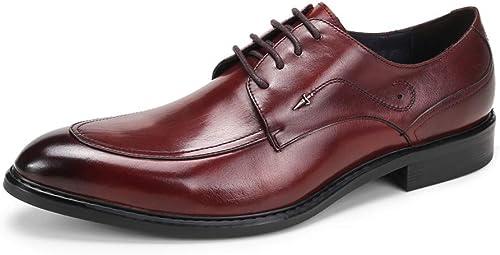 Lxmhz Chaussures habillées pour Hommes avec Bouts Pointus et Chaussures légères à Lacets zxcv,2,39