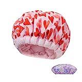 Locisne Gorro térmico bricolaje con acondicionamiento profundo térmico linaza,gorro acondicionador cabello para microondas Terapia calor vaporizar cabello,herramientas peinado para gorro spa,rosa