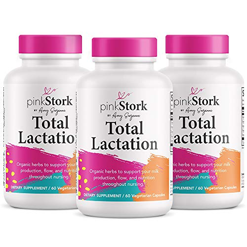 Pink Stork Total Lactation: Breastfeeding Support for Mom + Baby with Fenugreek, Increase & Enhance Milk Supply + Flow, Women-Owned, 180 Capsules