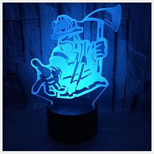 FYLART Luz de la noche luces nuevo aro de baloncesto 3D luz colorida táctil 3D Visual led luz nocturna de los deportes regalo pequeña lámpara de mesa 3D -Mk2761_Bluetooth