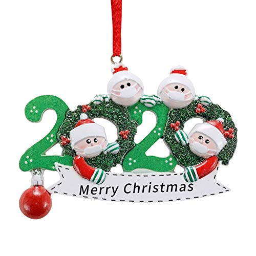 Personalized Family Christmas Ornament 2020 Survivor Family Customized Christmas Hanging Decorating DIY Xmas Gift (4 People)